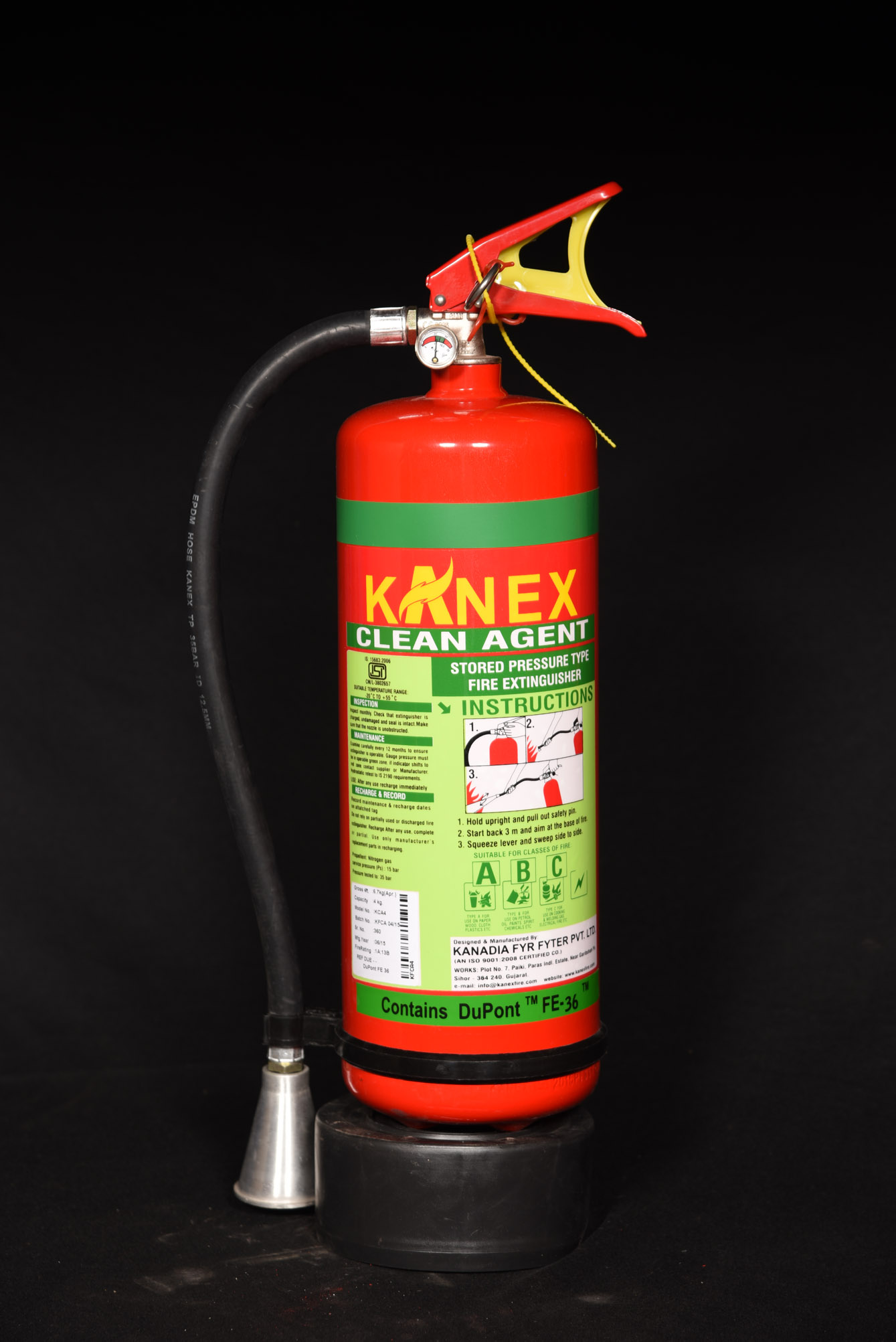 CLEAN AGENT GAS BASED FIRE EXTINGUISHERS