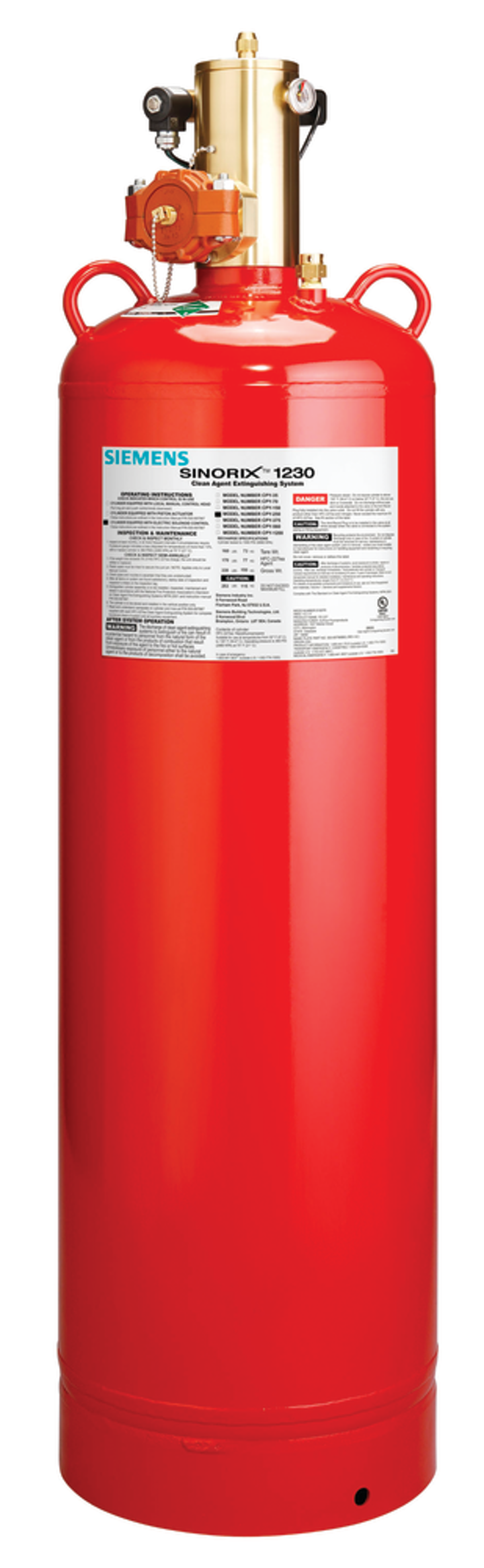 SINORIX 1230 - NOVEC 1230 GAS BASED FIRE SUPPRESSION SYSTEM
